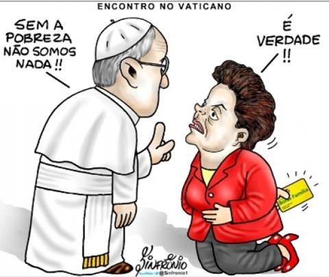 Dila e o encontro com o Papa
