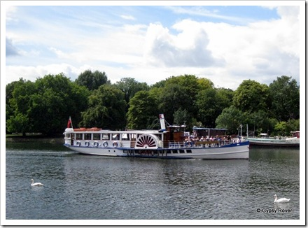 Paddle steamer Yarmouth Belle on the River Thames at Kingston upon Thames.