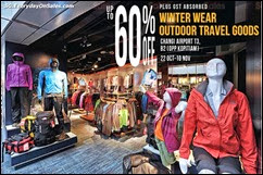 The Planet Traveller Winter Wear & Outdoor Travel Goods Sale Fair 2013 Singapore Deals Offer Shopping EverydayOnSales
