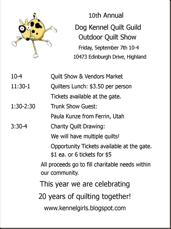 quilt show flyer publisher