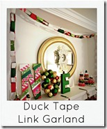 duck tape Christmas garland