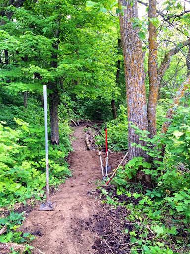 New mountain bike trail work on Maplelag property