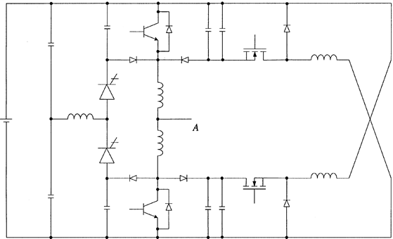 A lossless snubber circuit for an inverter leg