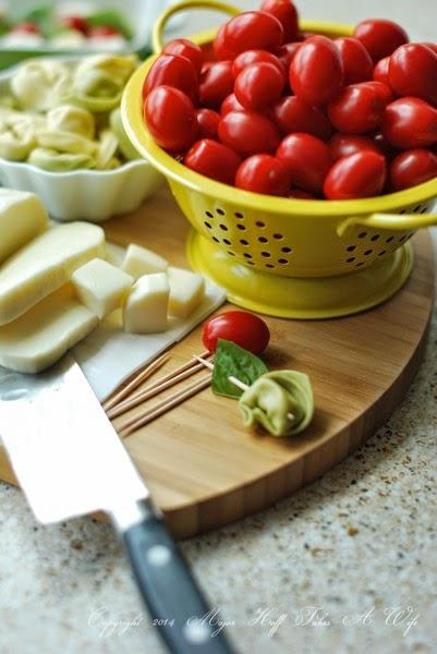 Assemble Tortellini skewers