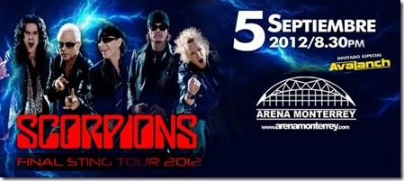 Scorpions Monterrey 2012 arena monterrey