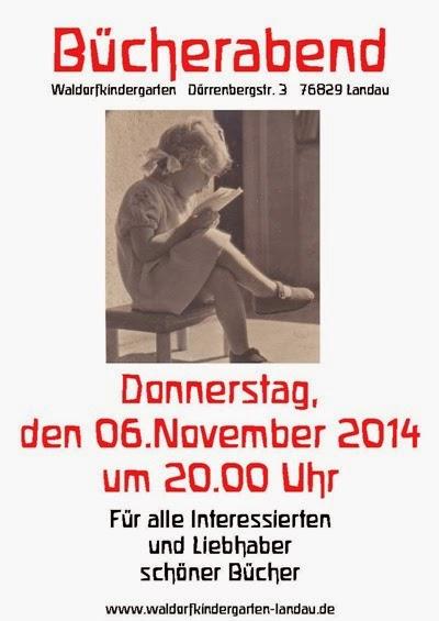 Bücherabend Plakat November 2014