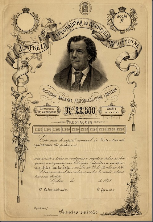 1875 Empreza de Recreios Whittoyne