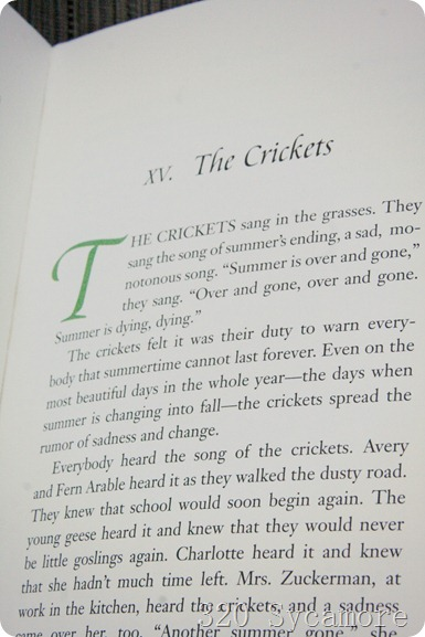 charlotte's web crickets