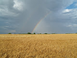 """Double Rainbow West of Pratt, Kansas"" - copyright Ruth Heflin"