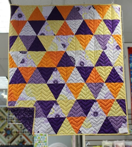Triangle quilt via The Fabric Mill Blog