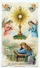 monstrance-holy card