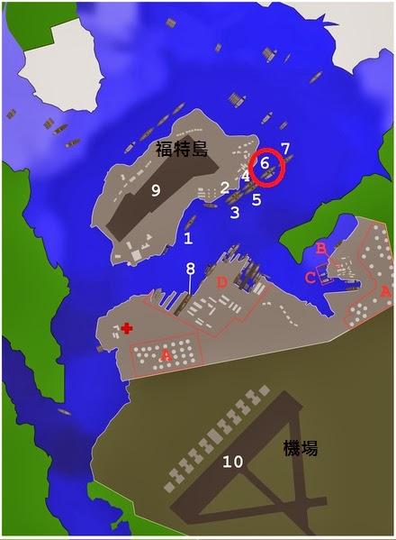 珍珠港遇襲時,船艦配置圖
