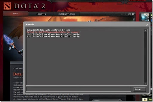 how to enable dota 2 console