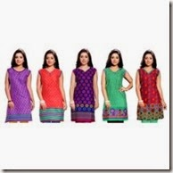 Shopclues : Buy Set of 5 kurties for women At Rs. 549 only
