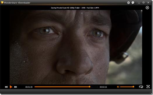 Wondershare vDownloader Player video integrato