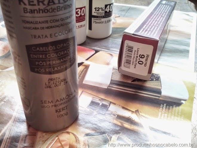 Keraton Prata misturado na tintura
