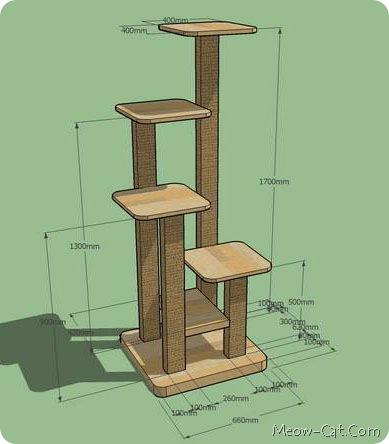 Free DIY Cat Tree Plans -