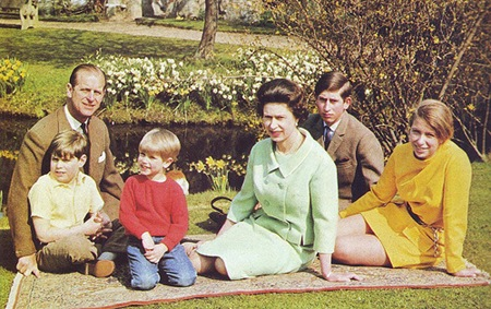 Prince Philip & Queen Elizabeth II Four Children