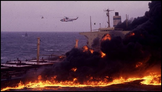 Mar Egeo en llamas