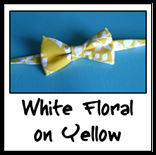 white floral on yellow