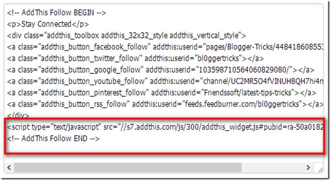 addthis widget code