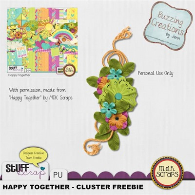 MDK Scraps - Happy Together - Cluster Freebie Preview