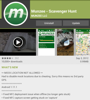 Munzee version 1.11.1