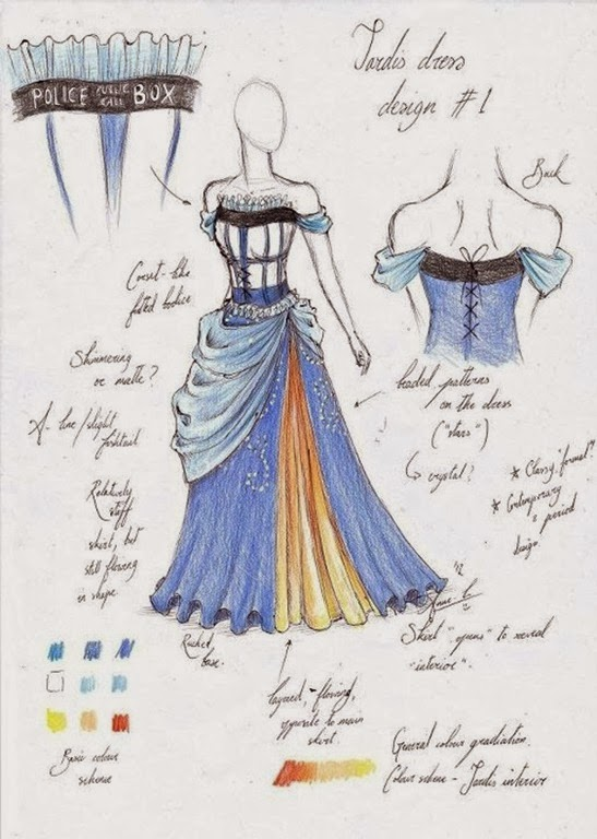 TARDIS-Ballgown-design