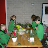 Kerststukjes maken