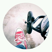 shoe and wheel