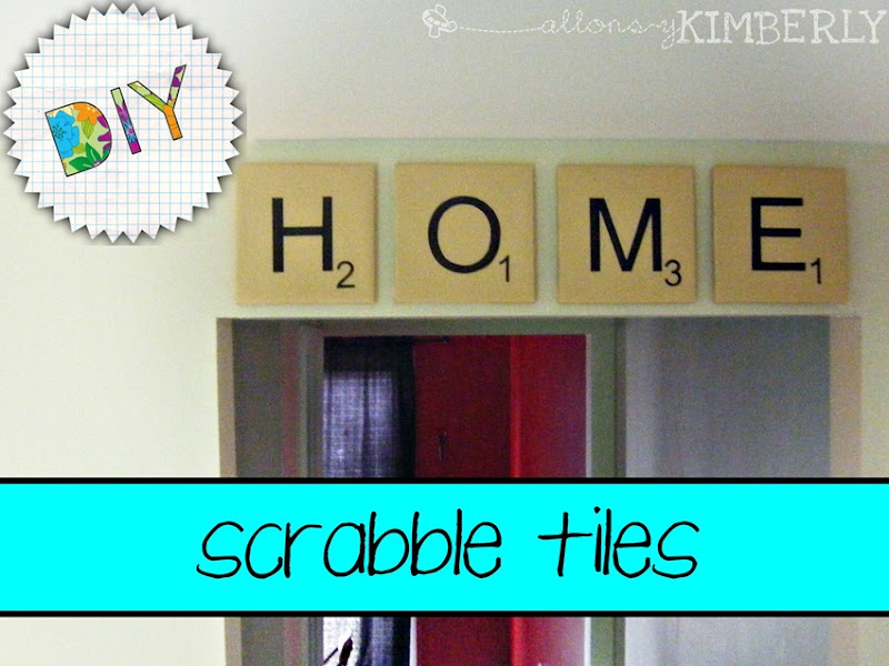Make Your Own Giant Scrabble Tiles | allonsykimberly.com