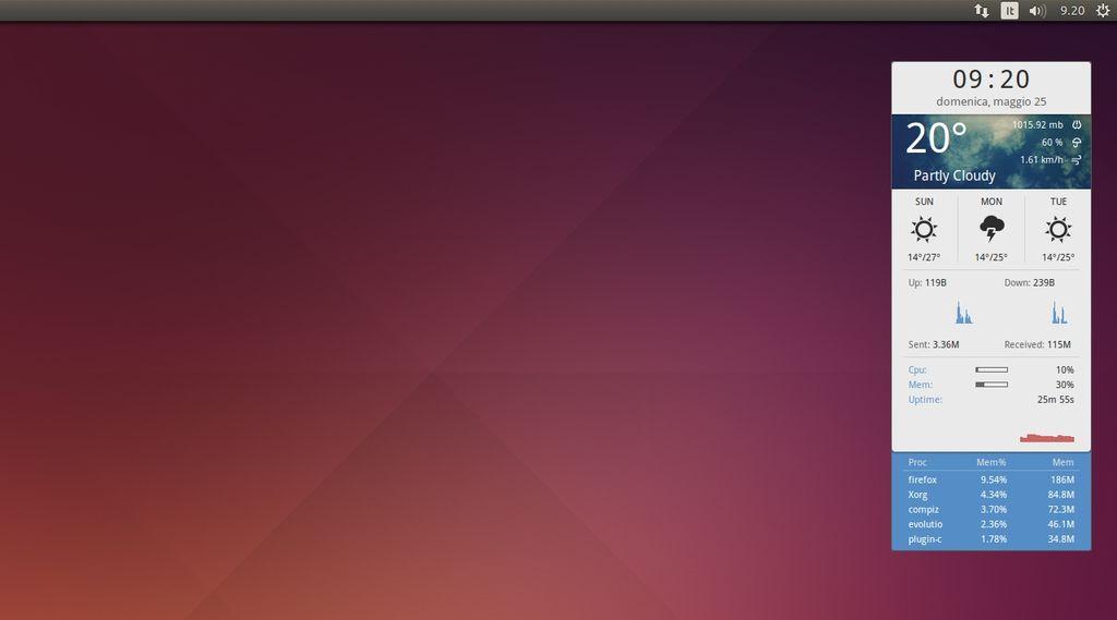 Conky Harmattan in Ubuntu Linux