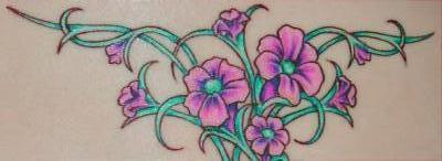 Flower Tattoos  Vines on Flower Vines Tattoo Jpg