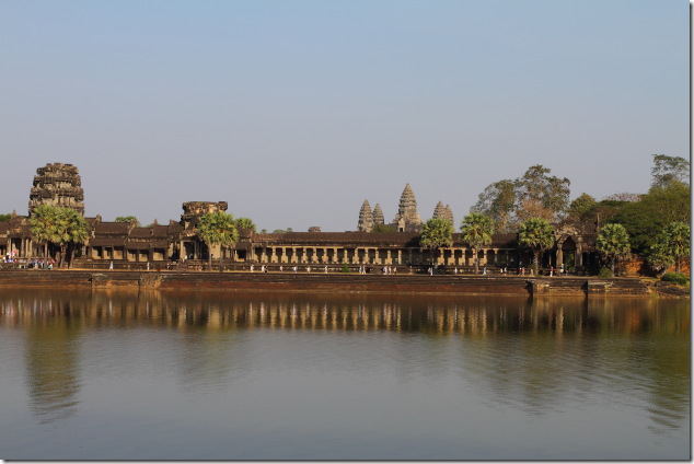 Evening time near the moat that surrounds Angkor Wat