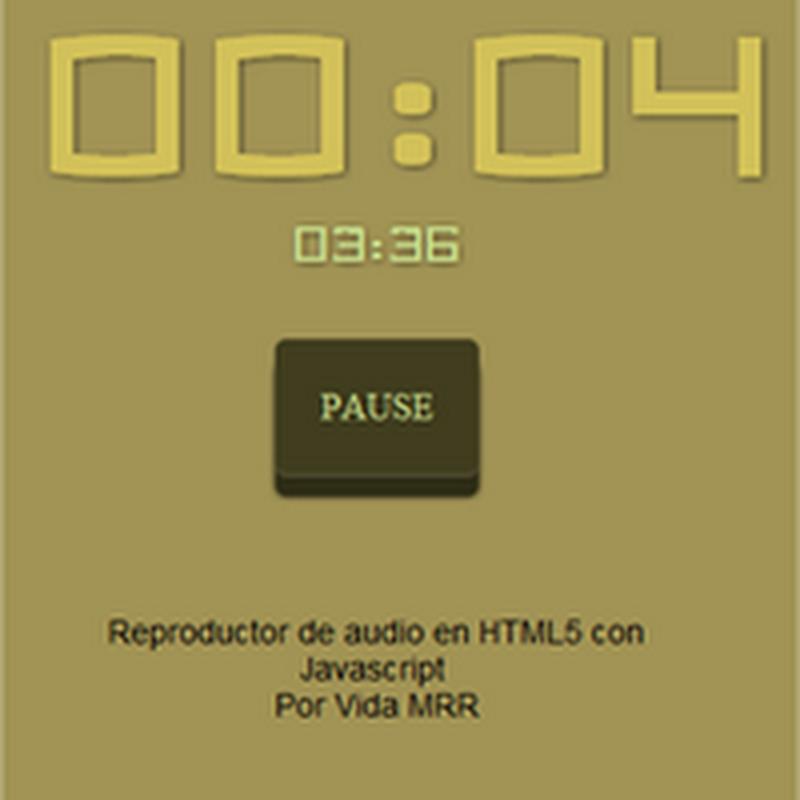 Manipular audio con HTML5 y Javascript