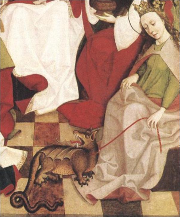 Maître hongrois, St Marguerite et le dragon
