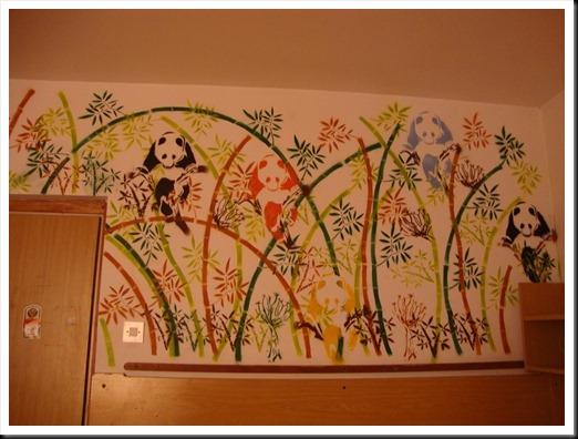 panda graffit in our room