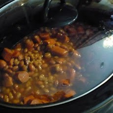 Crock Pot Hot Dogs / Franks and Beans -- Easy