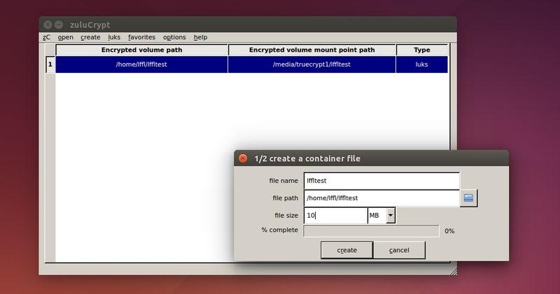 zuluCrypt in Ubuntu
