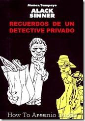 Alack Sinner - Recuerdos de un Detective Privado
