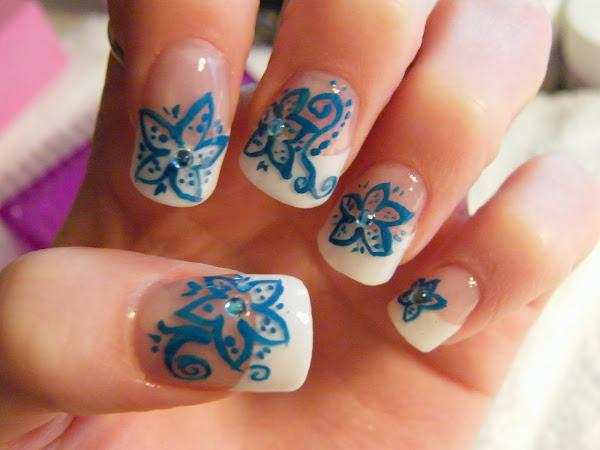 Acrylic Nail Designs With Rhinestones Nail Designs Hair Styles