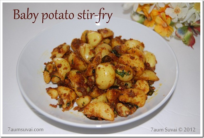 Baby potato stir-fry