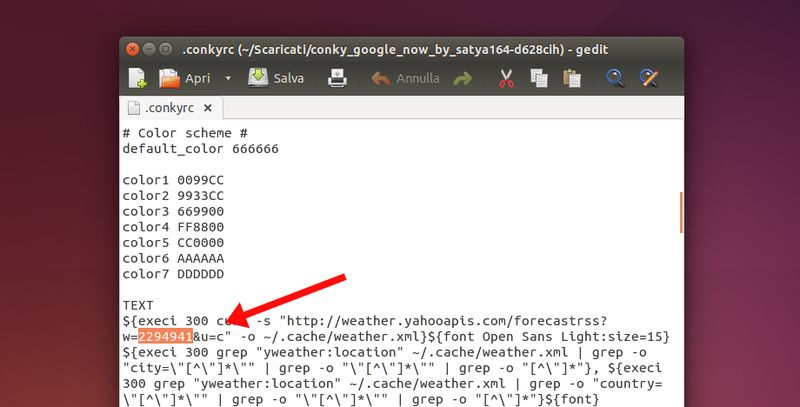 Conky Google Now - Conkyrc