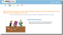 Use story jumper to create online picture books with kids.