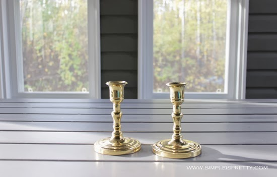 Brass Candle Sticks Before from www.simpleispretty.com
