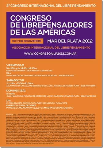 2012, Congreso de la Asociación Internacional de Libre Pensamiento, Afiche