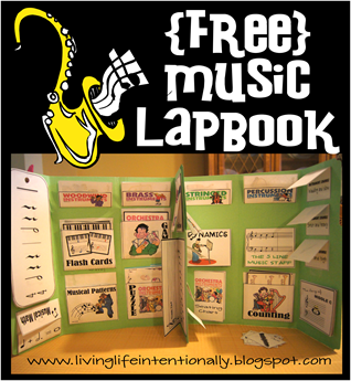 {FREE} Music Lapbook for Homeschool Fine Arts