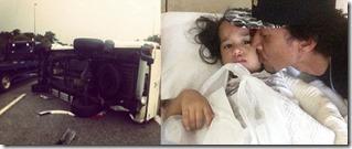 Gambar kemalangan Nabila Huda dan anak di lebuhraya Karak 5