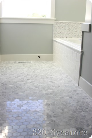 daltile carrara hexagon mosaic polished