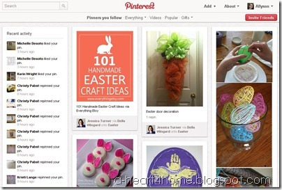 pinterest screen shot main page